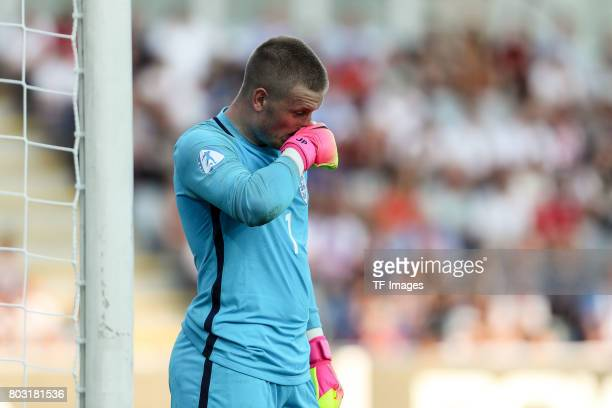 Goalkeeper Jordan Pickford of England looks on during the 2017 UEFA European Under21 Championship match between Slovakia and England on June 19 2017...