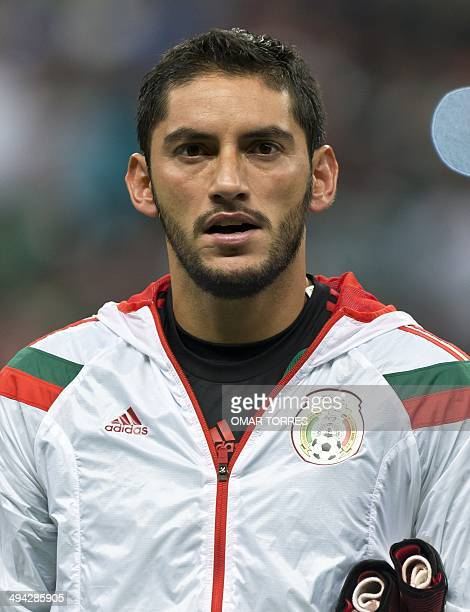 Goalkeeper Jose de Jesus Corona of Mexico National football team before their friendly match against Israel at the Azteca stadium on May 28 2014 in...