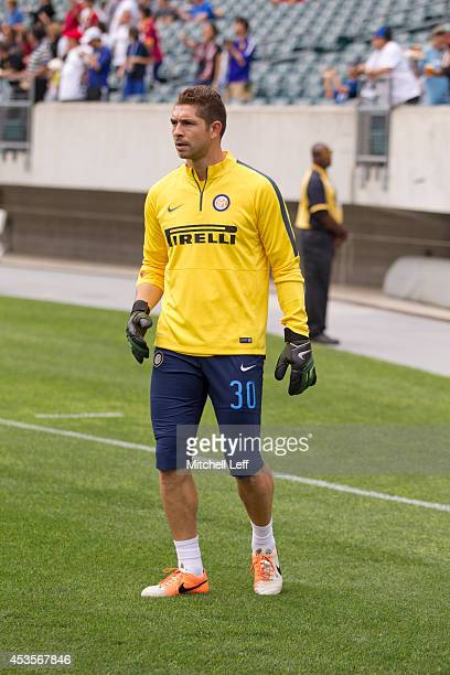 Goalkeeper Juan Pablo Carrizo of FC Internazionale Milano participates in the match against AS Roma during the International Champions Cup on August...
