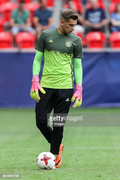 Goalkeeper Julian Pollersbeck of Germany during the UEFA European Under21 Championship Semi Final match between England and Germany at Tychy Stadium...