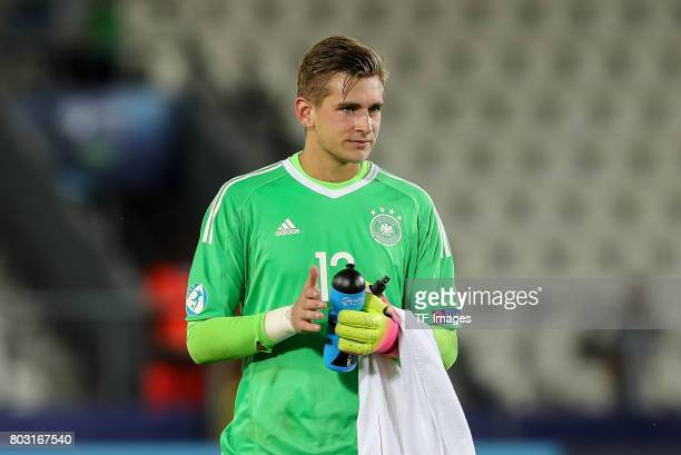 Goalkeeper Julian Pollersbeck of Germany looks on during the UEFA European Under21 Championship Group C match between Germany and Denmark at Krakow...