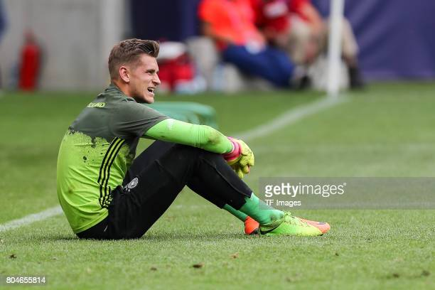 Goalkeeper Julian Pollersbeck of Germany looks on during the UEFA European Under21 Championship Semi Final match between England and Germany at Tychy...
