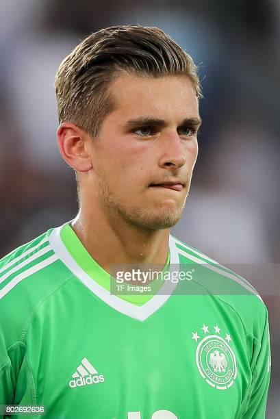 Goalkeeper Julian Pollersbeck of Germany looks on during the UEFA U21 championship match between Italy and Germany at Krakow Stadium on June 24 2017...