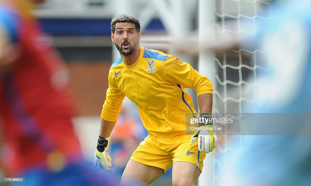 Goalkeeper Julian Speroni of Crystal Palace during a Pre Season Friendly between Crystal Palace and Lazio at Selhurst Park on August 10, 2013 in London, England.