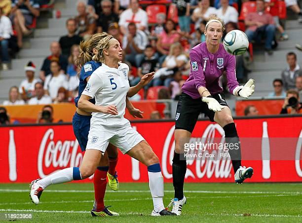 Goalkeeper Karen Bardsley of England during the FIFA Women's World Cup 2011 Quarter Final match between England and France at the FIFA Women's World...