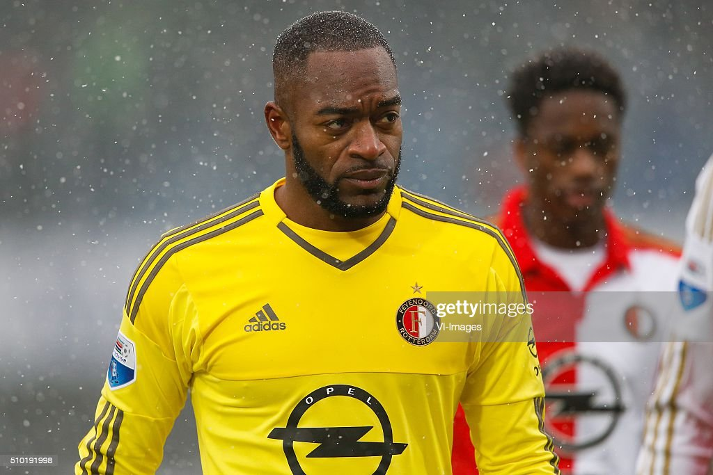 goalkeeper Kenneth Vermeer of Feyenoord during the Dutch Eredivisie match between PEC Zwolle and Feyenoord Rotterdam at the IJsseldelta stadium on February 14, 2016 in Zwolle, The Netherlands