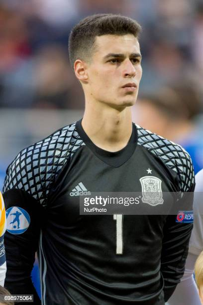 Goalkeeper Kepa Arrizabalaga of Spain pictured during the UEFA European Under21 Championship 2017 Group B match between Portugal and Spain at Gdynia...