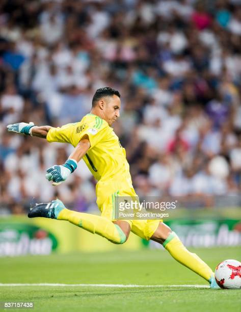 MADRID SPAIN AUGUST 16 Goalkeeper Keylor Navas of Real Madrid in action during their Supercopa de Espana Final 2nd Leg match between Real Madrid and...