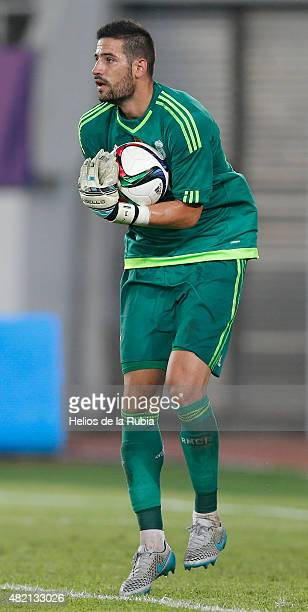 Goalkeeper Kiko Casilla of Real Madrid CF in action during the International Champions Cup match between Real Madrid and Inter de Milan at the Tianhe...