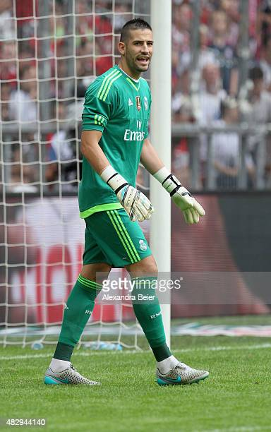 Goalkeeper Kiko Casilla of Real Madrid reacts during the semi final match of the Audi Cup between Real Madrid and Tottenham Hotspur at Allianz Arena...