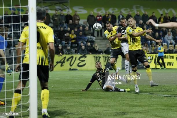 goalkeeper Lars Unnerstall of VVV Venlo Ralf Seuntjens of VVV Venlo Rai Vloet of NAC Breda Roel Janssen of VVV Venlo Giovanni Korte of NAC Breda...