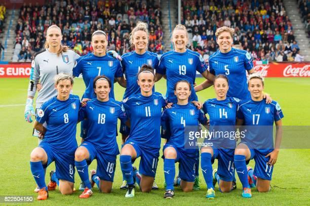 goalkeeper Laura Giuliani of Italy Women Alia Guagni of Italy Women Martina Rosucci of Italy Women Aurora Galli of Italy Women Elena Linari of Italy...