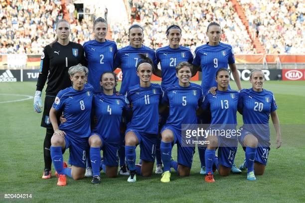 goalkeeper Laura Giuliani of Italy Women Cecilia Salvai of Italy Women Alia Guagni of Italy Women Marta Carissimi of Italy Women Ilaria Mauro of...