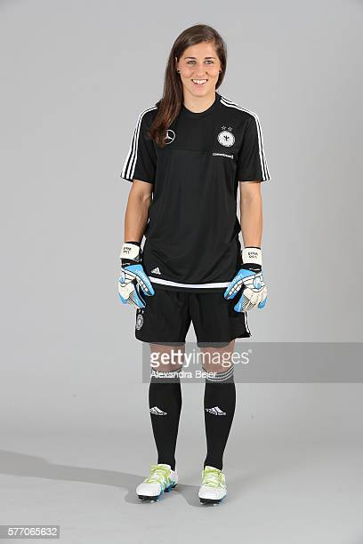 Goalkeeper Lisa Weiss of the German women's national football team poses during the team presentation on June 21 2016 in Grassau Germany