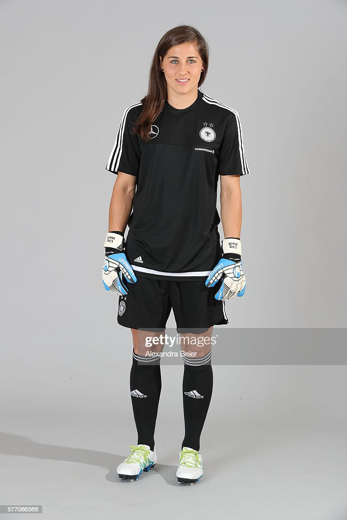 Goalkeeper Lisa Weiss of the German women's national football team poses during the team presentation on June 21, 2016 in Grassau, Germany.