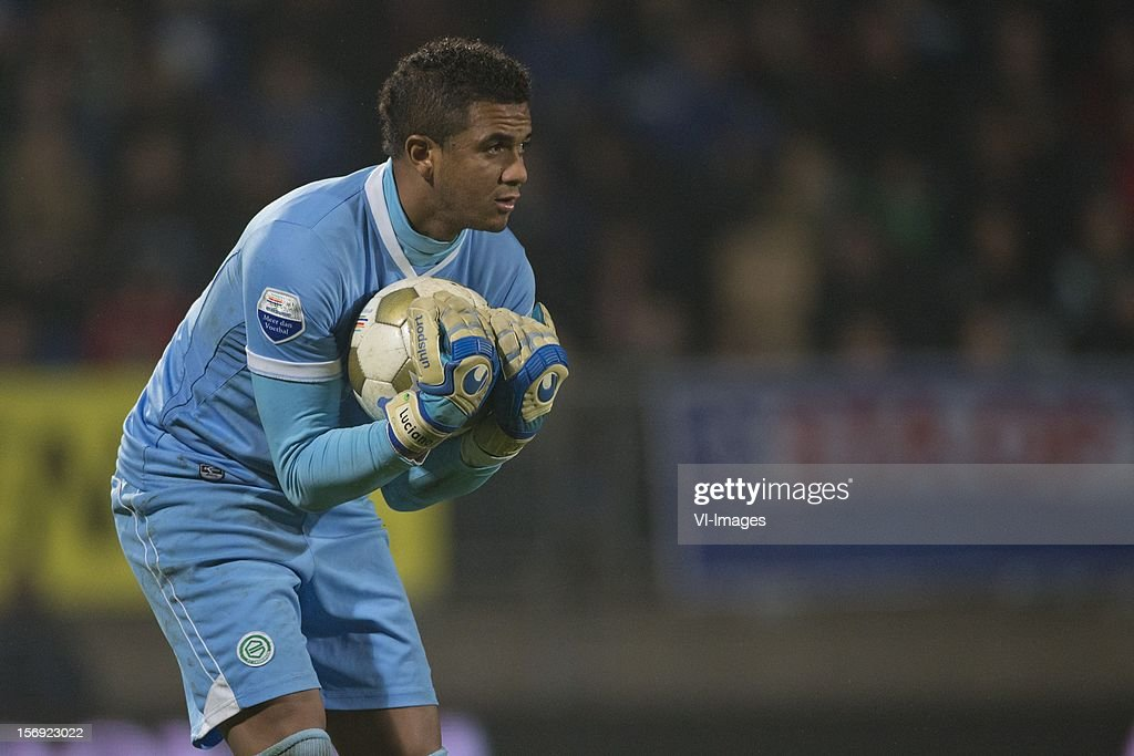 Goalkeeper Luciano da Silva of FC Groningen during the Dutch Eredivisie match between RKC Waalwijk and FC Groningen at the Mandemakers Stadium on November 24, 2012 in Waalwijk, The Netherlands.