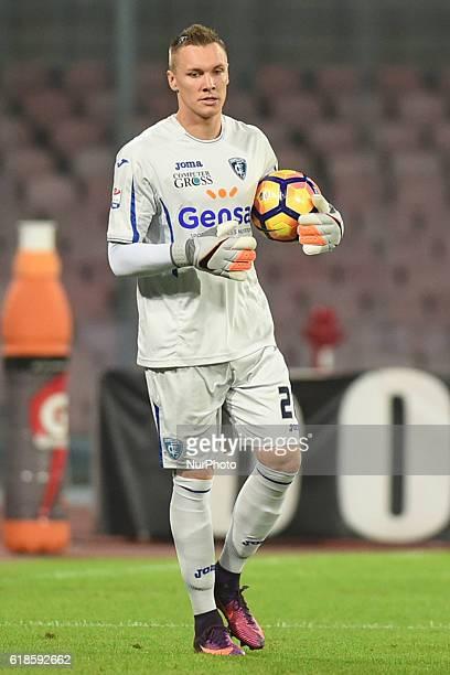 Goalkeeper Lukasz Skorupski of Empoli FC during the italian Serie A football match between SSC Napoli and Empoli FC at San Paolo Stadium on October...