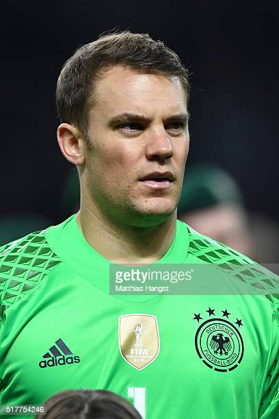 Goalkeeper Manuel Neuer of Germany poses prior to the International Friendly match between Germany and England at Olympiastadion on March 26 2016 in...