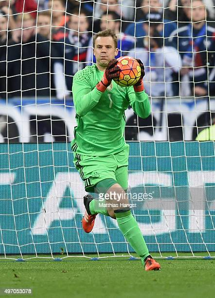 Goalkeeper Manuel Neuer of Germany seen during the International Friendly match between France and Germany at the Stade de France on November 13 2015...