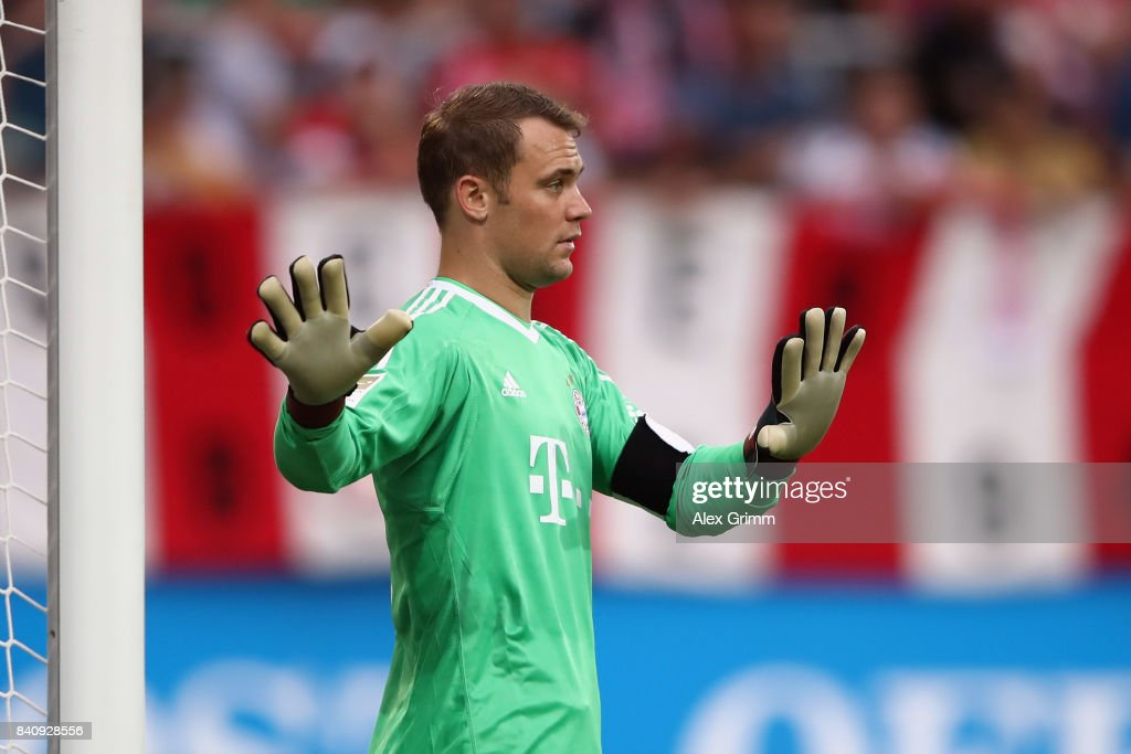 Real Madrid 2018-19 --Juventus / Man Utd Updates Goalkeeper-manuel-neuer-of-muenchen-reacts-during-a-friendly-match-picture-id840928556