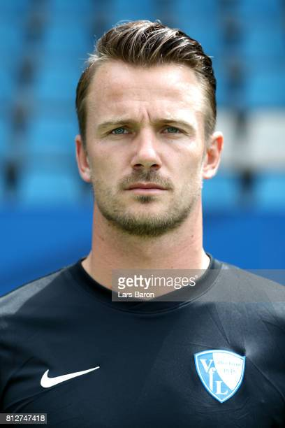 Goalkeeper Manuel Riemann of VfL Bochum poses during the team presentation at Vonovia Ruhrstadion on July 11 2017 in Bochum Germany