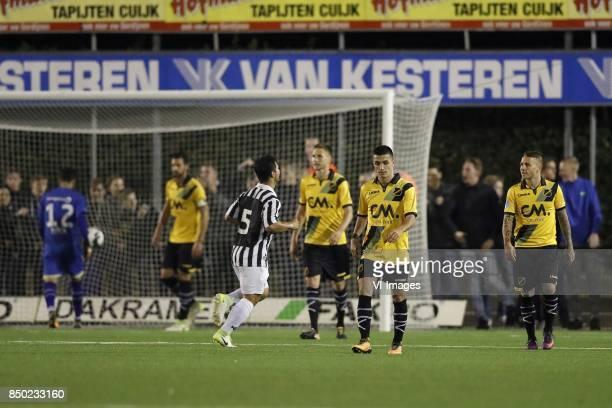 goalkeeper Mark Birighitti of NAC Breda Pablo Mari Villar of NAC Breda Marijn de Klerk of Achilles 29 Karol Mets of NAC Breda Manu Garcia of NAC...