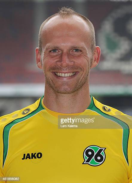 Goalkeeper Markus Miller poses during the team presentation at HDIArena on July 8 2014 in Hanover Germany