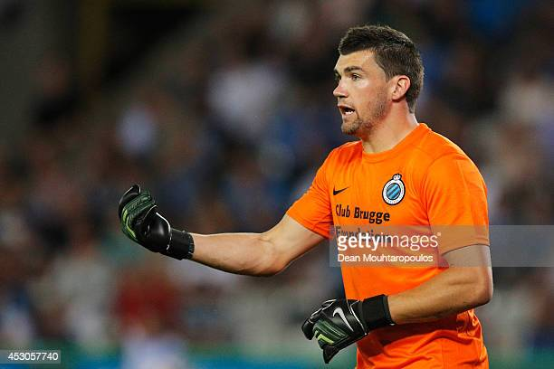 Goalkeeper Mathew Ryan of Brugge in action during the UEFA Europa League 3rd qualifying round first leg match between Club Brugge KV and Brondby IF...
