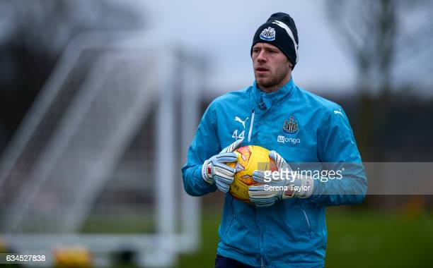 Goalkeeper Matz Sels during the Newcastle United Training Session at The Newcastle United Training Centre on February 10 2017 in Newcastle upon Tyne...
