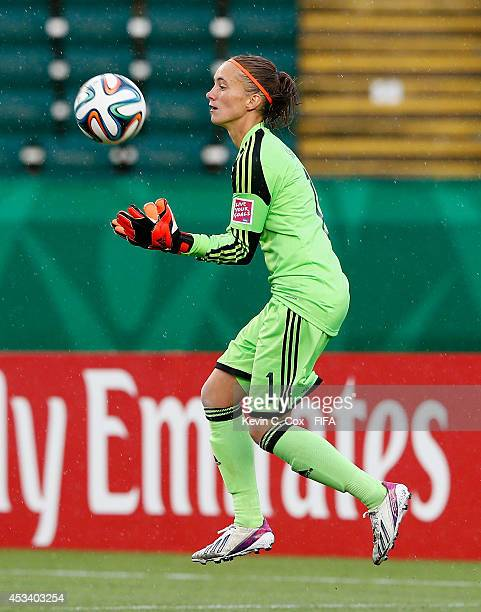 Goalkeeper Meike Kaemper of Germany in action during the FIFA U20 Women's World Cup Canada 2014 match between China PR and Germany at Commonwealth...