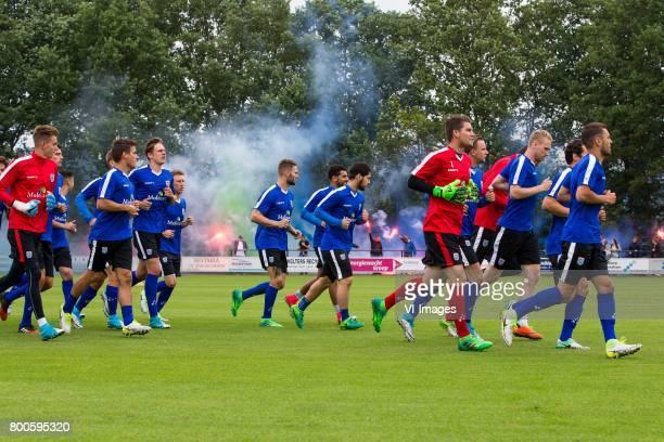 goalkeeper Mike Hauptmeijer of PEC Zwolle Erik Bakker of PEC Zwolle Josef Kvida of PEC Zwolle Dico Koppers of PEC Zwolle Bart Schenkeveld of PEC...