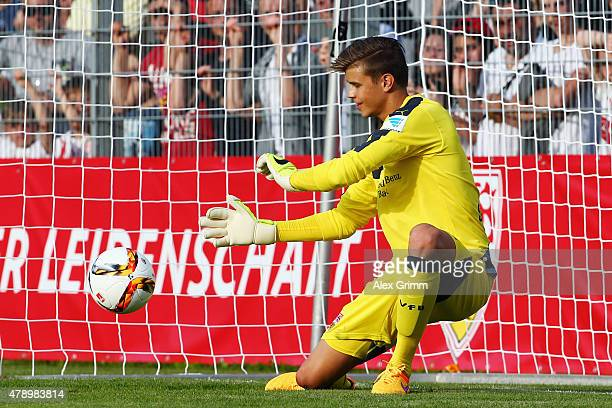 Goalkeeper Mitch Langerak attends the first training session of VfB Stuttgart at RobertSchlienzStadion on June 29 2015 in Stuttgart Germany