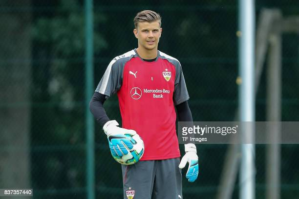Goalkeeper Mitchell Langerak of VfB Stuttgart looks on during the Training Camp of VfB Stuttgart on July 10 2017 in Grassau Germany