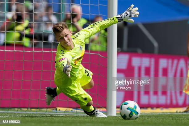 Goalkeeper Moritz Nicolas of Gladbach controls the ball during the Telekom Cup 2017 match between Borussia Moenchengladbach and Werder Bremen at on...