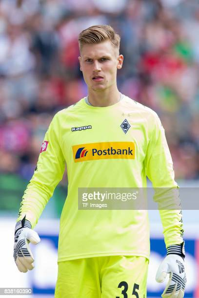 Goalkeeper Moritz Nicolas of Gladbach looks on during the Telekom Cup 2017 match between Borussia Moenchengladbach and Werder Bremen at on July 15...