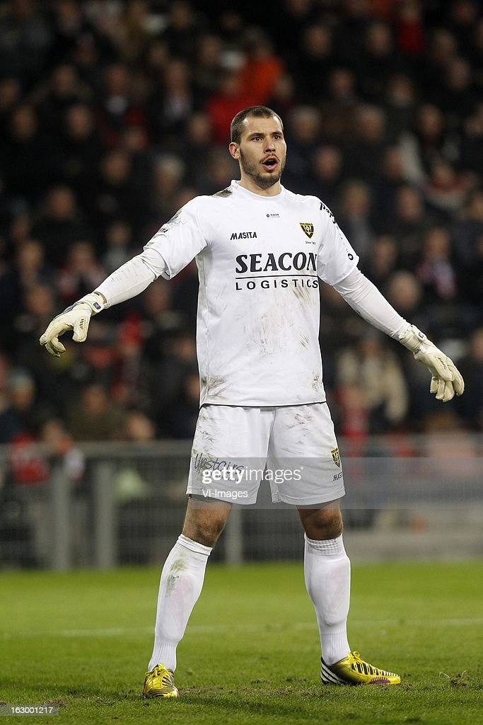 Goalkeeper Niki Maenpaa of VVV-Venlo during the Dutch Eredivisie match between PSV Eindhoven and VVV-Venlo at Philips Stadium on march 02, 2013 in Eindhoven, The Netherlands