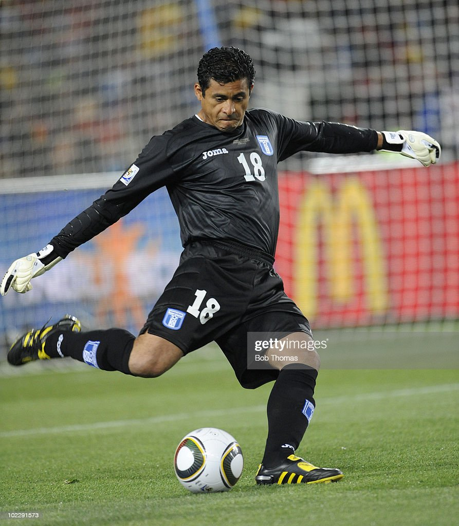 Goalkeeper Noel Valladares of Honduras during the 2010 FIFA World Cup South Africa Group H match between Spain and Honduras at Ellis Park Stadium on June 21, 2010 in Johannesburg, South Africa. Spain won the match 2-0.