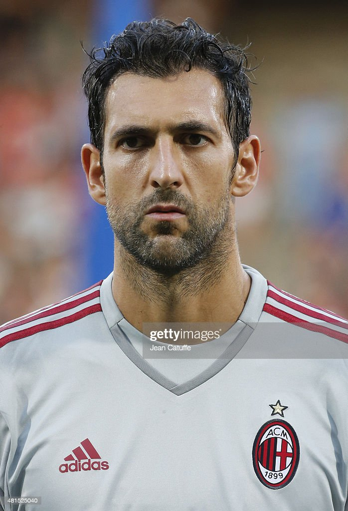 Goalkeeper of AC Milan Diego Lopez looks on before the friendly match between Olympique Lyonnais (OL) and AC Milan (Milan AC) at Stade de Gerland on July 18, 2015 in Lyon, France.