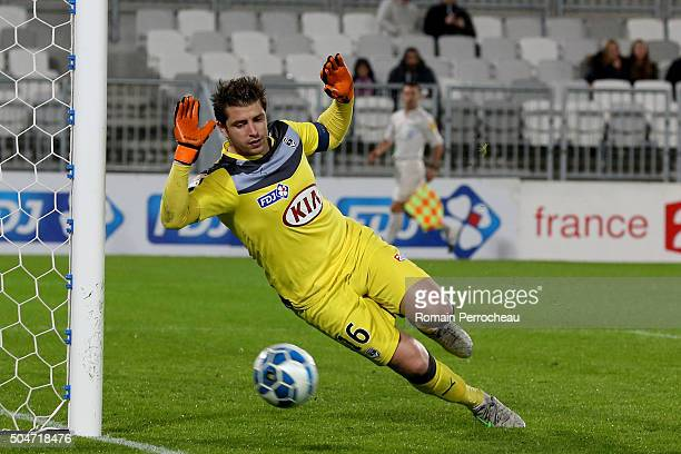 Goalkeeper of Bordeaux Cedric Carrasso in action during the French League Cup quarter final between Bordeaux and Lorient at Stade Matmut Atlantique...