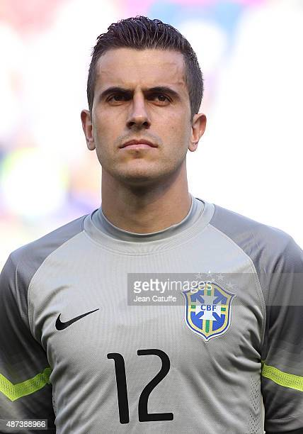 Goalkeeper of Brazil Marcelo Grohe poses before the international friendly match between Brazil and Costa Rica at Red Bull Arena on September 5 2015...