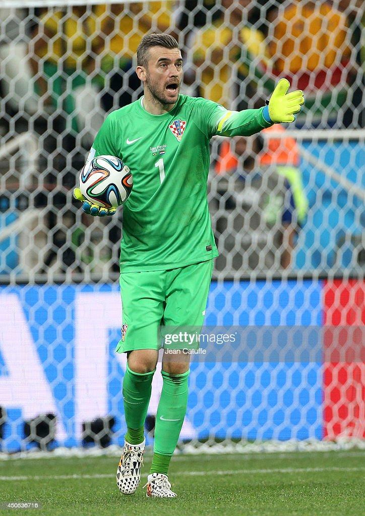 Goalkeeper of Croatia Stipe Pletikosa in action during the 2014 FIFA World Cup Brazil Group A match between Brazil and Croatia at Arena de Sao Paulol...