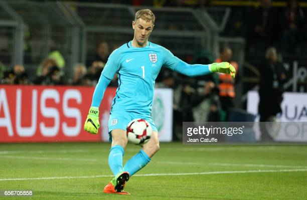 Goalkeeper of England Joe Hart in action during the international friendly match between Germany and England at Signal Iduna Park on March 22 2017 in...