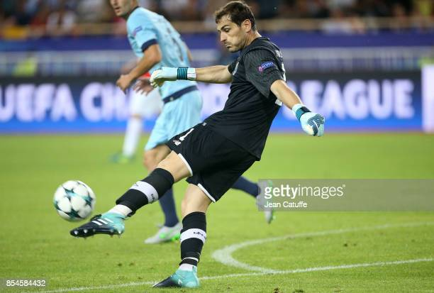 Goalkeeper of FC Porto Iker Casillas during the UEFA Champions League group G match between AS Monaco and FC Porto at Stade Louis II on September 26...