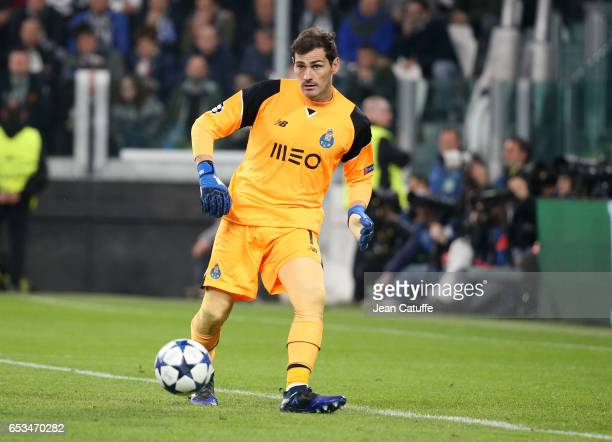 Goalkeeper of FC Porto Iker Casillas in action during the UEFA Champions League Round of 16 second leg match between Juventus Turin and FC Porto at...
