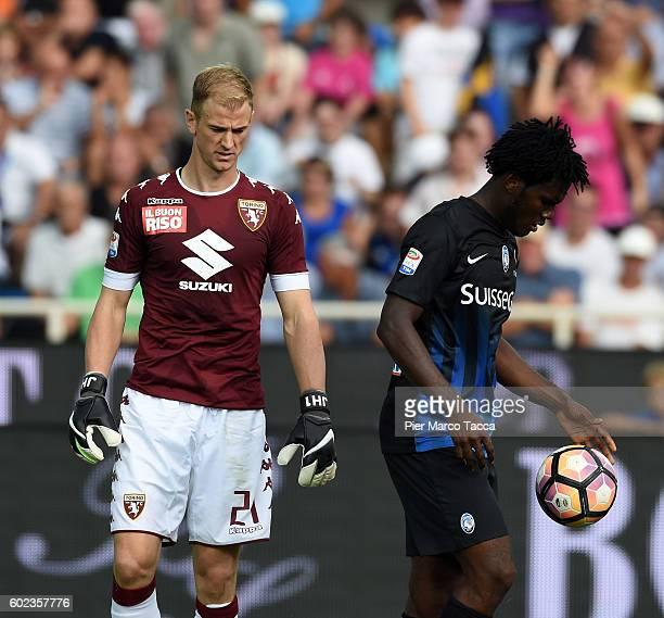 Goalkeeper of FC Torino Joe Hart and Franck Kessie of Atalanta BC during the Serie a match between Atalanta BC and FC Torino at Stadio Atleti Azzurri...