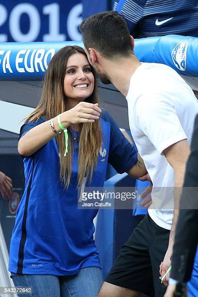 Goalkeeper of France Hugo Lloris meets his wife Marine Lloris following the UEFA EURO 2016 round of 16 match between France and Republic of Ireland...