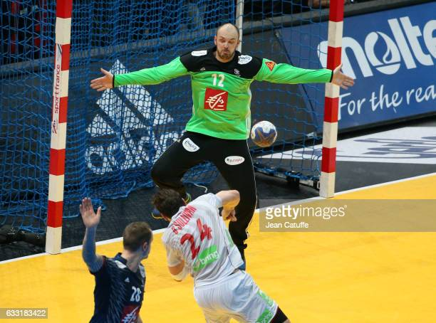 Goalkeeper of France Vincent Gerard in action during the 25th IHF Men's World Championship 2017 Final between France and Norway at Accorhotels Arena...
