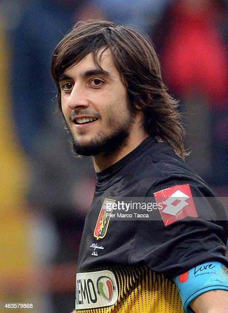Goalkeeper of Genoa CFC Mattia Perin during the Serie A match between Genoa CFC and Hellas Verona FC at Stadio Luigi Ferraris on February 15 2015 in...