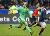 Goalkeeper of Germany Manuel Neuer in action during the international friendly match between France and Germany at Stade de France on November 13...