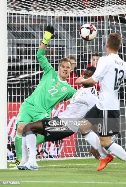 Goalkeeper of Germany MarcAndre ter Stegen in action during the international friendly match between Germany and England at Signal Iduna Park on...